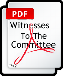 WITNESSES TO THE COMMITTEE  PDF